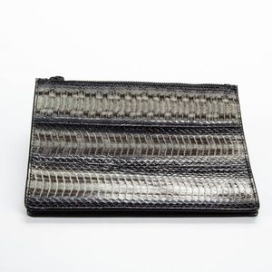 HELMUT LANG Embossed Leather Clutch